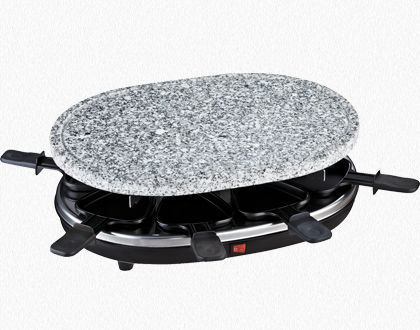 RACLETTE GRILL 8 PERSONS WITH GRANITE STONE RP85