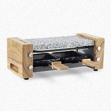 Raclette and cooking stone 2 persons wooden design WOD2