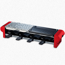RACLETTE GRILL 4 PERSONS WITH GRANITE STONE RP4