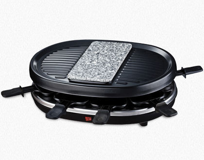 RACLETTE GRILL 8 PERSONS WITH GRANITE STONE RP80