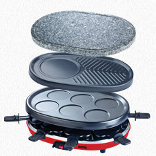 RACLETTE GRILL 4 IN 1 8 PERSONS RP412