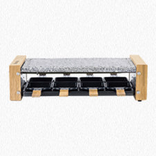 Raclette with cooking stone 8 persons wooden design WOD8